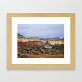 Historic Working Cattle Ranch In Utah , John D Barrett Photography Framed Art Print
