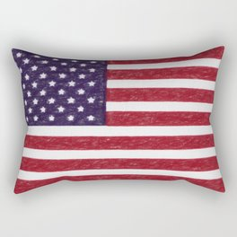 United states national flag - the Crayon and colored pencils version Rectangular Pillow