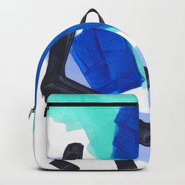 Ocean Torrent Whirlpool Teal Turquoise Blue Backpack