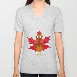 Thanksgiving Tribal Turkey Woodland Nursery Unisex V-Neck