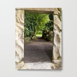 Through the Stone Wall Metal Print