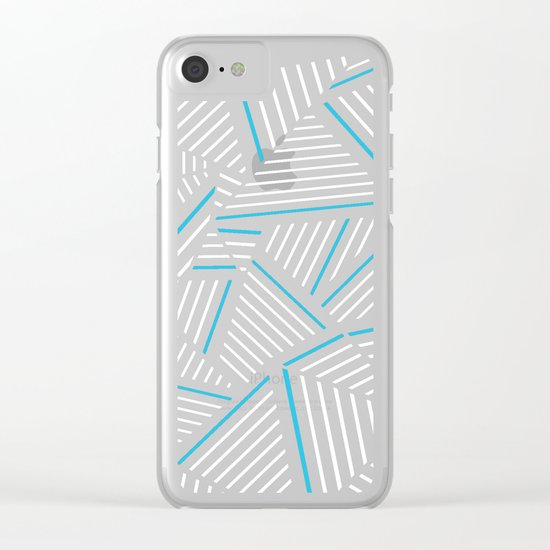 Ab Linear Inverted with Electric Clear iPhone Case