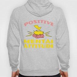 "A Cool Attitude Tee For You Saying ""Positive Mental Attitude"" T-shirt Design Brain Thunder Lightning Hoody"