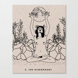 5. The Hierophant Canvas Print