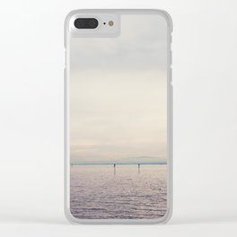 sunset along Lake Constance in Germany ... Clear iPhone Case
