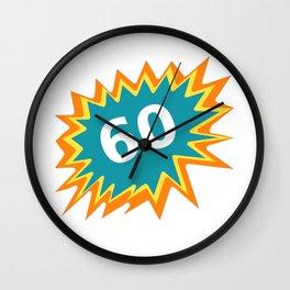 60 colorful, 60th birthday, 60th birthday Wall Clock