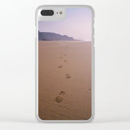 THE WHOLE BEACH TO MYSELF Clear iPhone Case