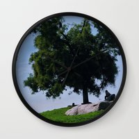 running Wall Clocks featuring running by XfantasyArt