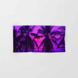 Pink Palm Trees by the Indian Ocean Hand & Bath Towel