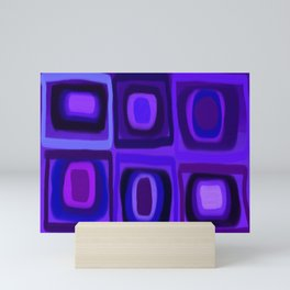 Violets in Blue Windows Mini Art Print