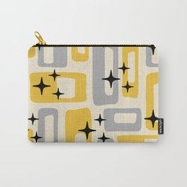 Retro Mid Century Modern Abstract Pattern 226 Yellow and Gray Carry-All Pouch