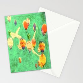 Balloon Love: up up and away Stationery Cards