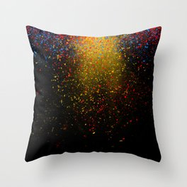 dust explosion Throw Pillow