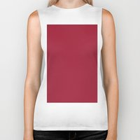 burgundy Biker Tanks featuring Vivid burgundy by List of colors