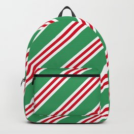 Christmas Stripes Large Small Small Backpack