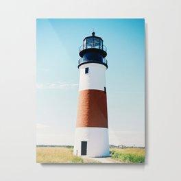 Nantucket Sconset Lighthouse Metal Print