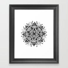 Mandala - Black Framed Art Print