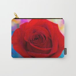 Red Rose and Rainbow Bokeh Carry-All Pouch