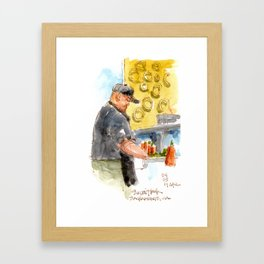Sushi Chef Framed Art Print