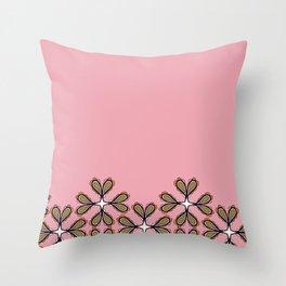 Paisley en fleurs fall treillis base 2 Throw Pillow
