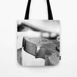 Violin in Black & White Tote Bag