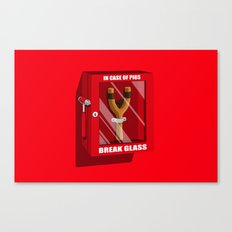 In case of pigs... Canvas Print