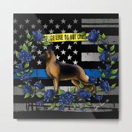 Thin Blue Line USA Version Metal Print
