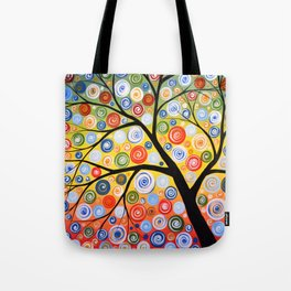 Abstract Art Landscape Original Painting ... Sky of Stars Tote Bag