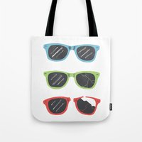 sunglasses Tote Bags featuring Sunglasses by Things and Other Things
