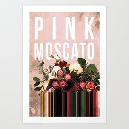 Pink Moscato in Blush Art Print