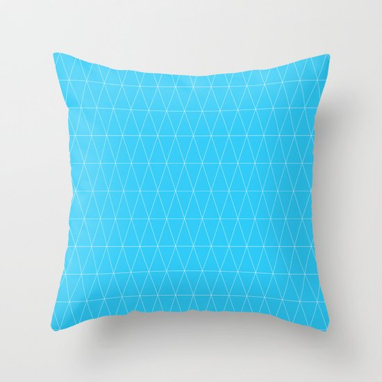 Simple Geometric Triangle Pattern- White on Teal - Mix & Match with Simplicity of life Throw ...