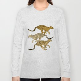 Go Cheetahs Go Pen and Ink by Lorloves Design Long Sleeve T-shirt