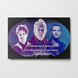 Great Men are Forged in Fire Metal Print