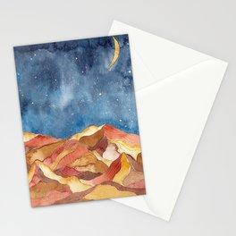 Watercolor Boho Wall Art Decor of Desert Landscape Stationery Cards