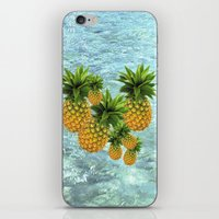 pineapples iPhone & iPod Skins featuring Pineapples by Erika Kaisersot