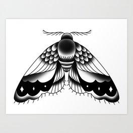 Goth Moth II Art Print
