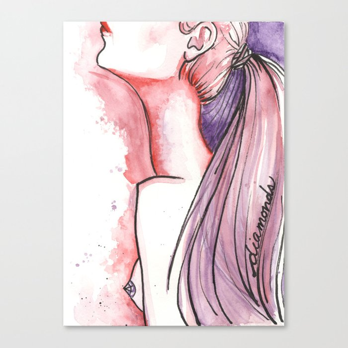 Diamond Pasties Canvas Print