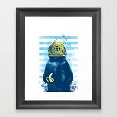 Wild Diver Framed Art Print