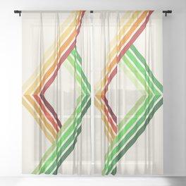 Diagonal Ray 2 Sheer Curtain