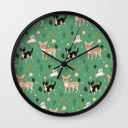 Tacos and chihuahuas Wall Clock