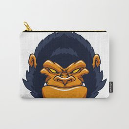 angry ape gorilla face Carry-All Pouch