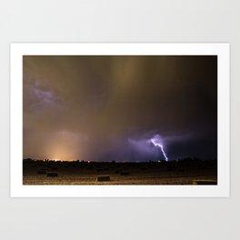 Idaho Lightning Show Art Print