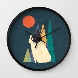 Waiting for You French Bulldog Wall Clock