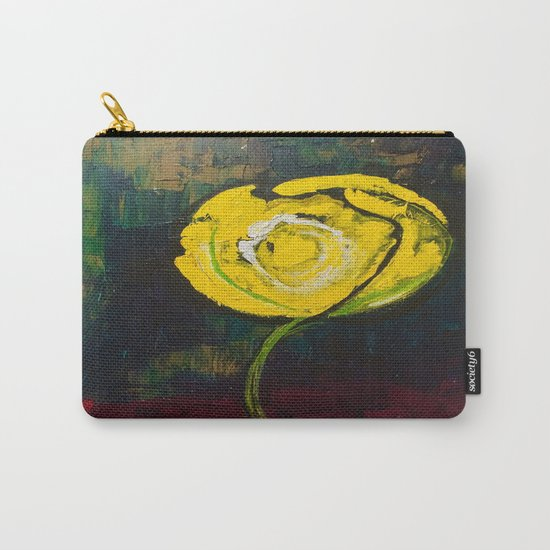 Golden Yellow Rose Acrylic Carry-All Pouch