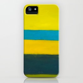 yellow blue iPhone Case