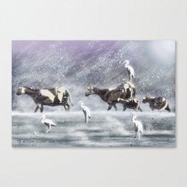 Two Flocks (Weathering Winter) Canvas Print