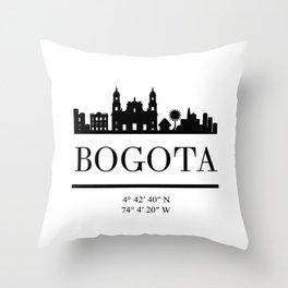 BOGOTA COLOMBIA BLACK SILHOUETTE SKYLINE ART Throw Pillow