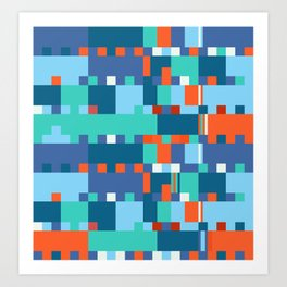 Chopin Fantaisie Impromptu (Anemone & Coral Colours) Art Print
