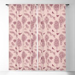 A Girl Reading in the Garden (Pink and Plum) Blackout Curtain
