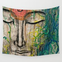zen Wall Tapestries featuring zen by Maithili Jha